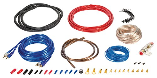 Eurosell - Premium Car Audio Anschlusskit S - Anlage Verstärker Auto KFZ Hifi Kabel Set Kit mit Remote Leitung
