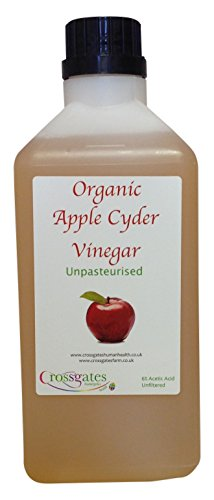 Award winning Organic Apple Cider Vinegar 1 Ltr with Mother, Plus FREE details on Apple Cider Vinegar Uses, Raw, Unpasteurised, Rich in Minerals, Vitamins, Enzymes & Trace Elements, With Established Health Benefits & Delicious Culinary Uses