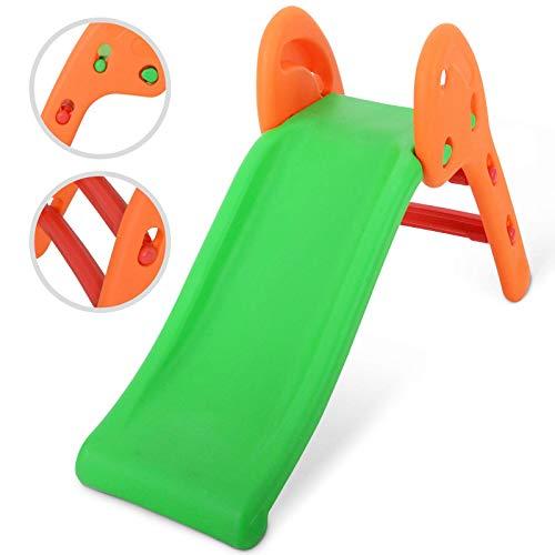 Farbenfrohe Kinderrutsche   110 x 56 x 50 cm, mit abgerundeten Ecken, aus robustem und pflegeleichtem Kunststoff, für Kinder von 2 bis 5 Jahren   Rutsche Gartenrutsche Kleinkinderrutsche Rutschspaß