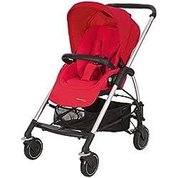 Bébé Confort Poussette Mya Compacte et Citadine, Habillage Pluie Inclus Vivid Red