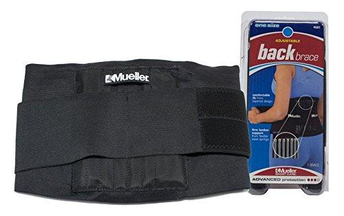 Mueller - Cinturón de protección lumbar unisex, color negro