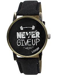 Shocknshop Casual Black Dial & Denim Leather Strap Analog Watch For Men/ Boys- (LR00027)