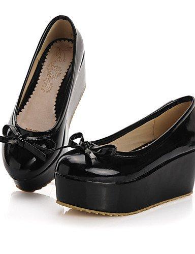 WSS 2016 Chaussures Femme-Bureau & Travail / Habillé / Décontracté-Noir / Rose / Rouge-Plateforme-A Plateau / Confort-Talons-Cuir Verni pink-us5 / eu35 / uk3 / cn34