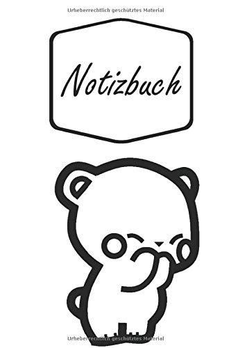 Notizbuch: Niedlicher Süßer Bär gibt ein Küsschen | Bären Freunde | geeignet als Tagebuch, Notizheft, Skizzenbuch und Schulheft | für Kinder: Mädchen ... | liniertes Papier | Soft Cover | - Niedlich Schule Mädchen Kostüm