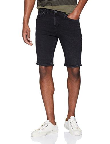 JACK & JONES Herren Jjitim Jjfelix Shorts AM 705 50SPS STS, Schwarz (Black Denim Black Denim), 52(Herstellergröße: L) (Jeans-hose Dunkle)