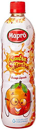 Mapro Santra Mantra Orange squash, 750ml  available at amazon for Rs.105