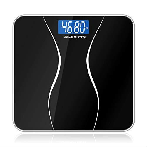 Chengxin Básculas de Cocina Inicio LCD baño electrónico báscula de Peso Digital Inteligente Adulto precisión pérdida de Peso Escala Vidrio Templado 379 Libras Básculas de Cocina