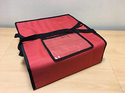 Pizza) Staubbeutel 43,2x 43,2x 15,2cm isoliert Thermo-Tasche für Takeaway Lebensmittel T10rot (Budget-tasche)