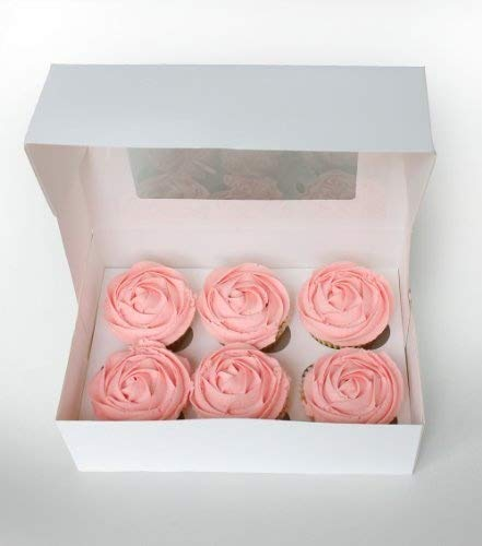 6 Boxes with Window & Inserts for 6 Cupcakes by Turtle Products by Turtle Products