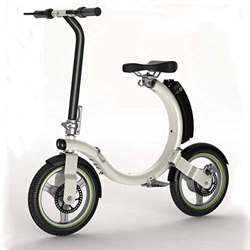 Hold E-Bikes Elektroroller - Tragbarer Klapproller - Leichtes elektrisches Aluminium-Faltrad@Silber