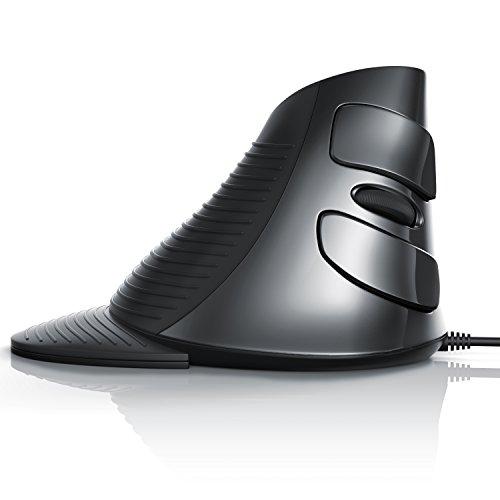 Aplic - optische Maus / vertikal Ausführung | inkl. Handballenaufsatz (abnehmbar) | ergonomisches Design / Vorbeugung gegen Mausarm / Tennisarm (RSI Syndrom) | besonders armschonend | Plug and Play | 3 DPI-Stufen | 6 Tasten | nur für Rechtshänder