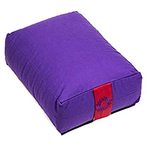 Natur-Eco Meditationskissen Rechteckig Violett Chakra 7 38×28×15 cm