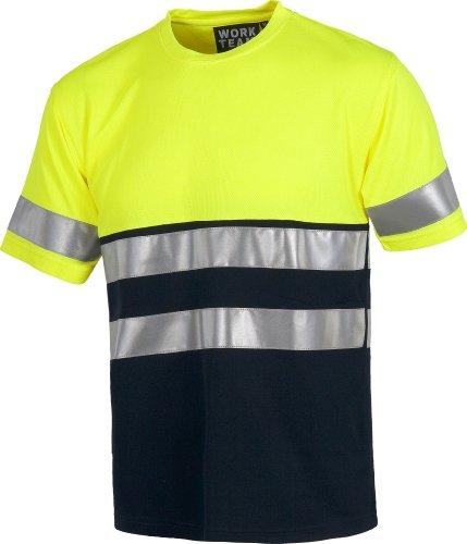 Work Team Camiseta manga corta combinada A.V. con cintas reflectantes. EN ISO...