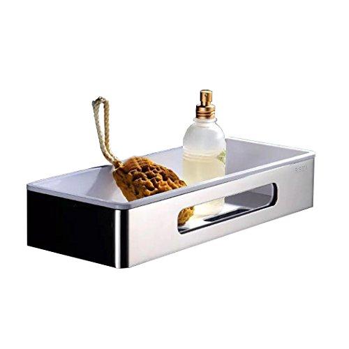Phoewon, ripiano portaoggetti per bagno, mensola per cucina in acciaio inossidabile sus304,mensola portaoggetti per doccia, da montare su parete, per shampoo, sapone rectangular