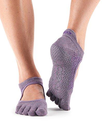 Toesox–Calcetines agarre completo Bellarina Toe calcetines, calcetines de baile y se puede utilizar para barre, Yoga, Pilates, Fitness Antideslizantes Calcetines–1par, Opal, medium