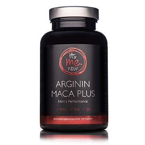 itsme.now Arginin Maca Plus - Fitness & Lust I Kraftvoller Wirkstoff-Komplex für den aktiven Mann I Zink Selen Vitamin B6 B9 B12 & Maca Nahrungsergänzung L-Arginin Kapseln hochdosiert vegan 120 St. - 100% Soja-protein-booster