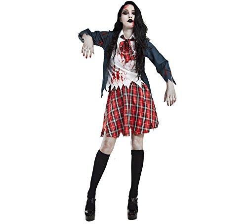 Imagen de disfraz colegiala zombi talla m l