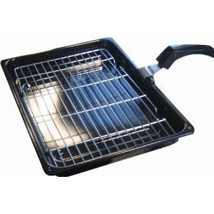 Grill Pan Complete With Rack And Handle (380mm x 280mm) for 60cm Cookers Hotpoint, Canon, Belling, Stoves, Electrolux,