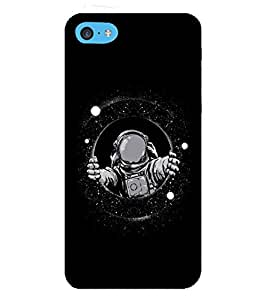 Takkloo black background astronaut,man in space, man wearing mask) Printed Designer Back Case Cover for Apple iPhone 5c