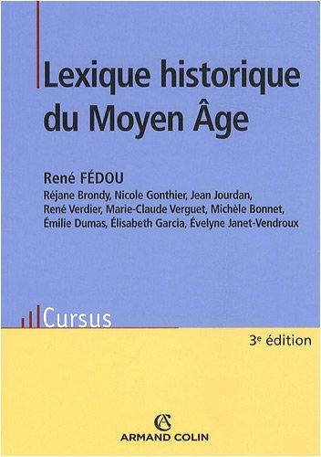 Lexique historique du Moyen-Age