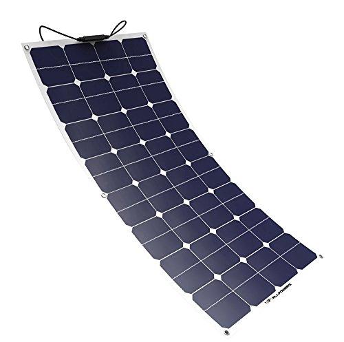 ALLPOWERS 100W 18v 12v Pannello Solare Caricabatterie Solare SunPower Flessibile Pieghevole con MC4 per RV, Barca, Cabina, Tenda, Auto, Rimorchio