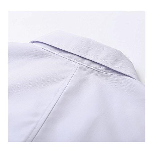 shane&shaina Kurzarm kurze abschnitt kittel ärzte krankenschwestern bekleidung arbeitskleidung arbeit (damen, XL) - 6