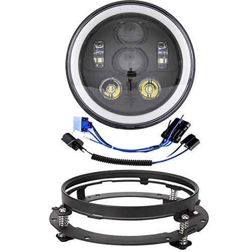 70mm Qiilu 1 paire Auto Halo Anneaux Angel Eye COB Puces Phare DRL LED Pour Voiture De Moto