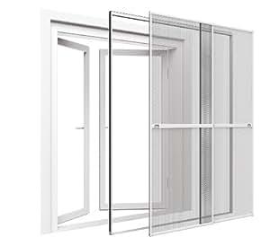easy life premium insektenschutz doppelschiebet r 230 x 240 cm xxl schiebet r mit klemmzarge. Black Bedroom Furniture Sets. Home Design Ideas