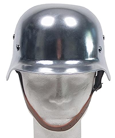 Stahlhelm WW II, chrom, mit