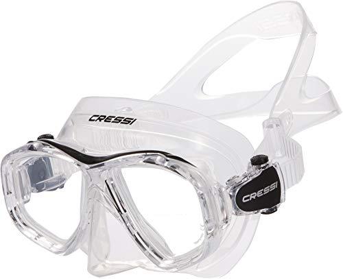 Cressi Icon Mask Tauchermaske Für Damen Und Herren, Transparent/Schwarz, Uni
