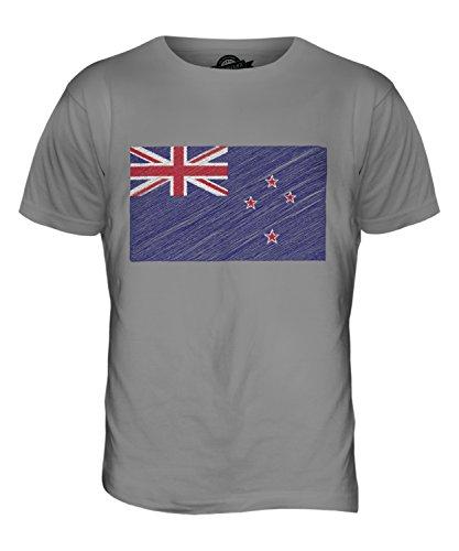 CandyMix Neuseeland Kritzelte Flagge Herren T Shirt Hellgrau