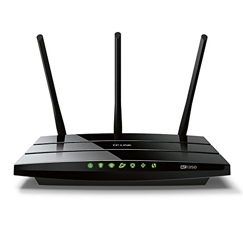 TP-Link Archer C59 AC1350 Dualband WLAN Router(für Anschluss an Kabel-/DSL-/GlasfaserModem, 450 Mbit/s(2,4GHz)+867 Mbit/s(5GHz), App Steuerung, IPv6, USB 2.0, Print/Media/FTP Server)