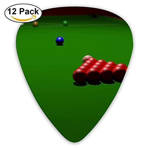 Cartoon Cool Snooker Billard Plektrum12 Stück Für E-Gitarre, Akustikgitarre, Mandoline und Bass