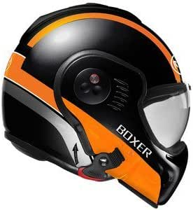 Roof Boxer V8 Manga Flip Front Motorcycle Helmet L Matt Black Orange By Roof Sport Freizeit