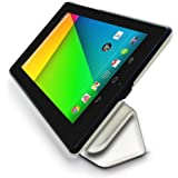 """LuvTab Frameless Étui de protection pour Google Nexus 7 (2) 2013 avec capteur de veille et fonction support 7"""" Pour Galaxy Tab 3 (7"""")  - blanc"""