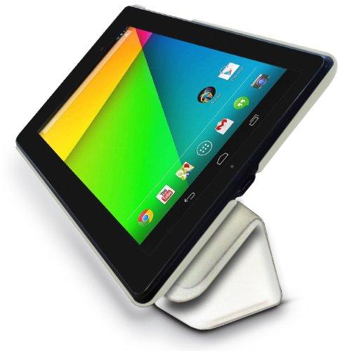 LuvTab Google Nexus 7 (2) 2013 Slim 'Frameless' Tasche Case Hülle (7 Zoll), Sleep Sensor, Mit Aufsteller Funktion (Weiß)