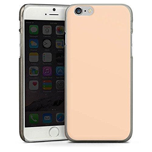 Apple iPhone 4 Housse Étui Silicone Coque Protection Pêche Couleur Sable CasDur anthracite clair