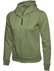 Uneek clothing - Sudadera con capucha - para hombre, Mujer, color verde oliva, tamaño X-Small