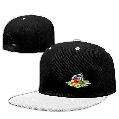 Preisvergleich Produktbild Rubix Cube Plain Cotton Hip Hop Baseball Cap Adjustable Blank Cap for Men&Women