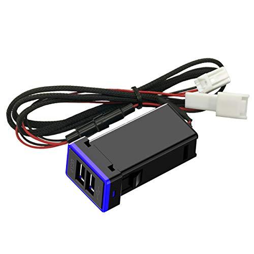 87da5e498f3 CHELINK - Adaptador de Enchufe USB para Coche con Cargador rápido para  Toyota, Puerto de