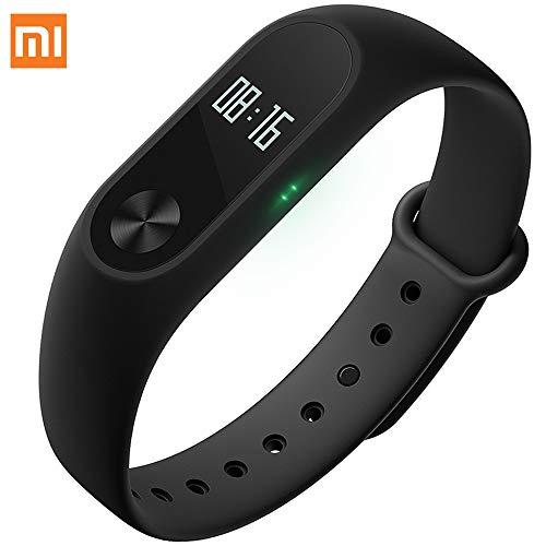 EdwayBuy Xiaomi Mi Band 2 Pulsera de Actividad Inteligente Rastreador Deportes Deportiva con Pulsómetro Monitor de Ritmo Cardíaco Bluetooth Negro