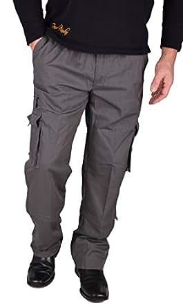 Iwea -  Pantaloni  - cargo - Basic - Uomo Grau XXXL