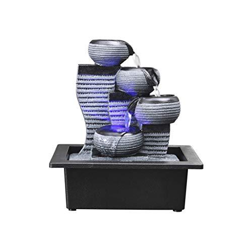 Mai tank Einfache geometrische Aquarium Ornamente Wohnzimmer Wasserfall Brunnen Wasser Feature Handwerk Schreibtisch Dekoration Ornamente (Farbe : B/24 * 18 * 26cm)