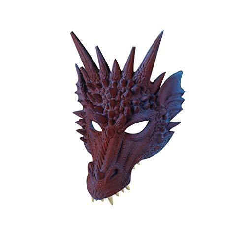 Dasongff Halloween Maske 3D Drache Cosplay Maske Party Kostüm Maske Tier Drachenmaske Erwachsene Kind Kostüm Cosplay Dekoration Unisex Einheitsgröße für - Der Schocker Für Erwachsenen Kostüm