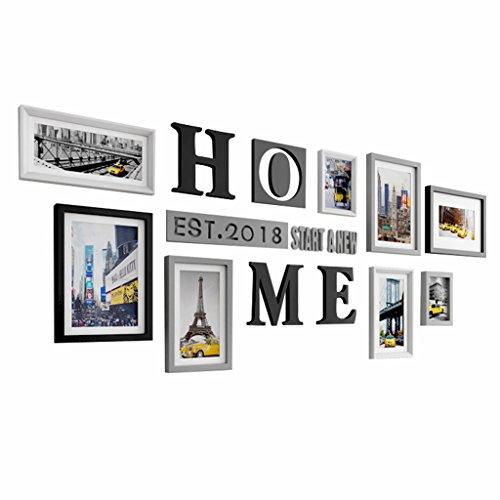Rahmen Deko Set Bilderrahmen mehrere, Bilderrahmen, Set Rahmen Wandtattoo, Grand Set Bilderrahmen Rahmen, Dekorationen für Zuhause und Wand, Bilderrahmen Vintage, Galerie Rahmen Wandtattoo Set–8/Set