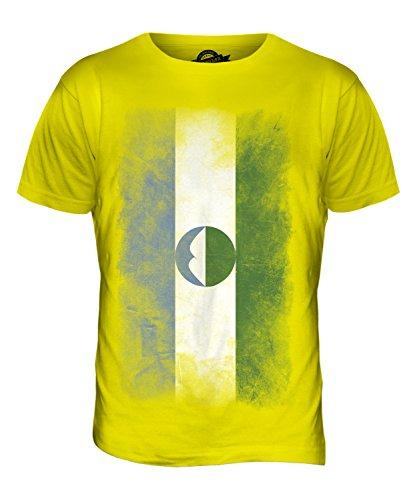 CandyMix Kabardino-Balkarien Verblichen Flagge Herren T Shirt Zitronengelb