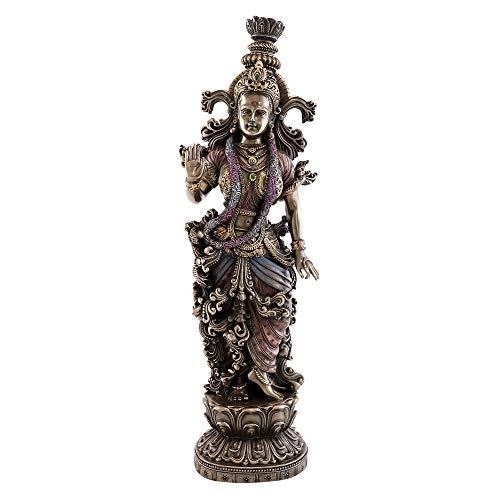 Top Collection Radha-Statue aus kaltgegossener Bronze, 36,8 cm H 11,4 cm (Statue Von König Tut)