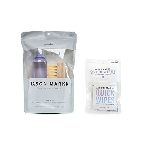 Jason Markk Unisex Essential Shoe Care Kit PLUS Set of 3 Pack Quick Wipes