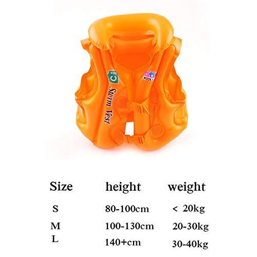 XTYZY 2019SchwimmwesteKinder PVC Float AufblasbareSchwimmweste Schwimmweste Lernen SchwimmringHilfe für Alter 3-6 A