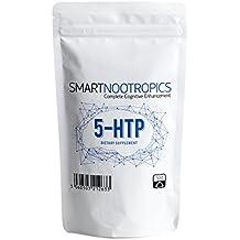 5-HTP en Polvo Puro - Para Mejorar el Ánimo y la Calidad del Sueño | Ayuda a Perder Peso | Puro y Natural - Smart Nootropics - Envasado en Instalaciones con ...